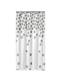 Tenda da doccia bianca/argento Spots, Materiale sintetico (PEVA), impermeabile, Bianco, argento, Larg. 180 x Lung. 200 cm