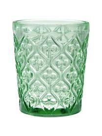 Bicchiere acqua Marrakech, set di 6, Vetro, Blu, lilla, grigio, verde, giallo, trasparente, Ø 8 x Alt. 10 cm