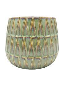 Obal na kvetináč z keramiky Nomad, Zelená, žltá