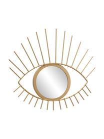 Specchio decorativo rotondo con cornice dorata Auge, Cornice: metallo rivestito, Superficie dello specchio: lastra di vetro, Cornice: dorato Superficie dello specchio: lastra di vetro, Larg. 27 x Alt. 31 cm