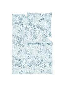 Baumwoll-Bettwäsche Nadira in Blau/Cremeweiß, Webart: Renforcé Fadendichte 144 , Blau, 135 x 200 cm + 1 Kissen