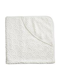 Baby-Badetuch Wave aus Bio-Baumwolle, 100% Biobaumwolle, Gebrochenes Weiß, 80 x 80 cm
