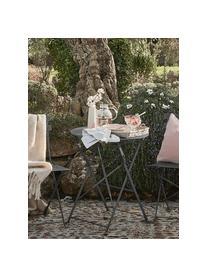 Set tavolo e sedie da giardino in metallo Chelsea 3 pz, Metallo verniciato a polvere, Grigio scuro, Set in varie misure