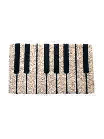 Fußmatte Piano, Oberseite: Kokosfaser, Unterseite: Kunststoff (PVC), Schwarz, Creme, 40 x 60 cm