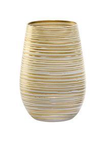 Kryształowa szklanka do koktajli  Twister, 6 szt., Szkło kryształowe, powlekane, Biały, odcienie złotego, Ø 9 x W 12 cm
