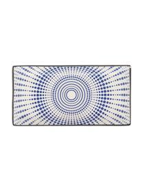 Service de table bleu blanc Skiathos, 6 personnes (18élém.), Tons bleus, blanc cassé Bord: anthracite