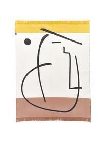 Tappeto con frange e motivo geometrico Goliath, Cotone riciclato, Multicolore, Larg. 150 x Lung. 200 cm (taglia S)