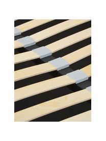 Beige gestoffeerd bed Cloud met opbergruimte, Frame: Massief grenenhout en pla, Bekleding: Fijn gestructureerde gewe, Beige, 180 x 200 cm