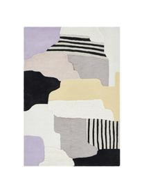 Handgetuft hoogpolig wollen vloerkleed Hanne, 60% wol, 40% viscose, Multicolour, B 200 x L 300 cm (maat L)