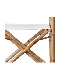 Klappbarer Regiestuhl Mandisa aus Bambus, Gestell: Bambus, naturbelassen, Bambus, helles Leinen, 58 x 88 cm