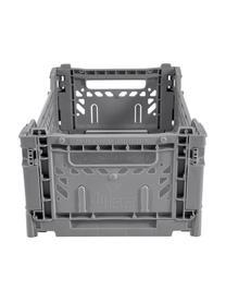 Cesto piccolo pieghevole e impilabile Grey, Materiale sintetico riciclato, Grigio, Larg. 27 x Alt. 11 cm