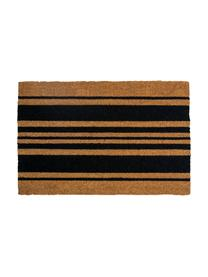 Paillasson Bold Stripes, Noir, beige