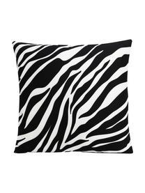 Kissenhülle Pattern mit Zebra Print in Schwarz/Weiß, 100% Polyester, Weiß, Schwarz, 45 x 45 cm