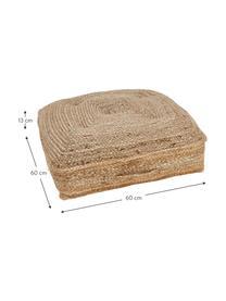 Poduszka podłogowa z juty Ural, Juta, S 60 x D 60 cm