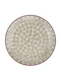 Frühstücksteller Karine mit kleinem Muster, 4er-Set, Keramik, Mehrfarbig, Ø 20 cm