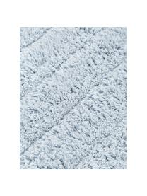 Fluffy badmat Board, Katoen, zware kwaliteit, 1900 g/m², Lichtblauw, 60 x 90 cm