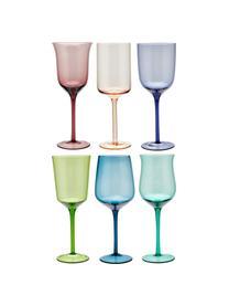 Verres à vin bigarrés soufflés bouche Desigual, 6élém., Multicolore