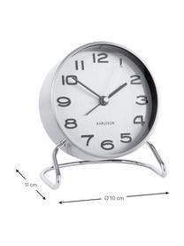 Sveglia Classical, Metallo rivestito, Cromo, bianco, nero, Ø 10 cm