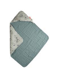 Asciugamano per bambini Sea Friends, 100% cotone, certificato Oeko-Tex, Blu, Larg. 70 x Lung. 70 cm