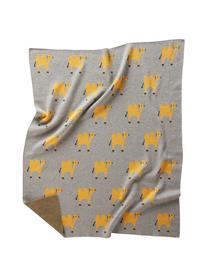 Baby-Kuscheldecke Luz aus Bio-Baumwolle, 100% 100% Biobaumwolle, Grau, Orange, 80 x 100 cm