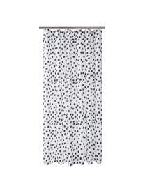 Duschvorhang Danja, gepunktet, 100% Polyester Wasserabweisend, nicht wasserdicht, Weiß, Schwarz, 180 x 200 cm