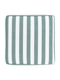 Cuscino sedia alto a righe verde salvia/bianco Timon, Rivestimento: 100% cotone, Verde, Larg. 40 x Lung. 40 cm