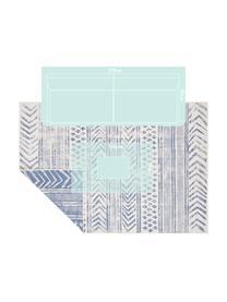 Gemusterter In- & Outdoor-Wendeteppich Biri in Blau/Creme, 100% Polypropylen, Blau, Creme, B 200 x L 290 cm (Größe L)