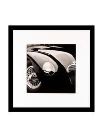 Impression numérique encadrée Oldtimer II, Image: noir, blanc Cadre: noir