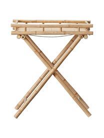Inklapbare tuinbijzettafel Mandisa van bamboehout, Onbehandeld bamboehout, Bamboehoutkleurig, 60 x 68 cm