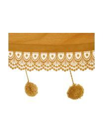 Amaca in cotone con pompon Holly, Cotone, Giallo senape, bianco latteo, Larg. 90 x Lung. 250