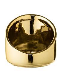 Świecznik na podgrzewacze Mara, Kamionka, Odcienie złotego, Ø 8 x W 8 cm