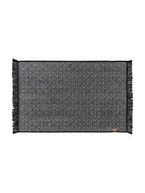 Koupelnový kobereček s grafickým vzorem Marocco, Černá, bílá