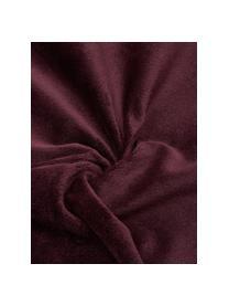 Cuscino con imbottitura Oscar, Rivestimento: 95% cotone, 5% acrilico, Borgogna, Larg. 50 x Lung. 50 cm
