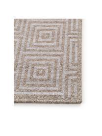 Wollteppich Jacob mit grafischem Muster in Beige/Hellgrau, 70% Wolle, 30% Viskose, Hellgrau, Beige, B 240 x L 340 cm (Größe XL)