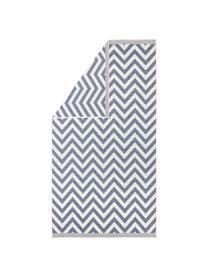 In- & Outdoor-Teppich Palma mit Zickzack-Muster, beidseitig verwendbar, Blau, Creme, B 200 x L 290 cm (Größe L)