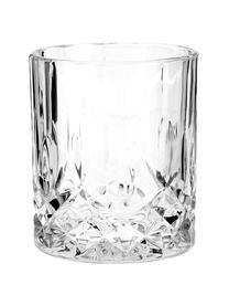Gläser George mit Kristallrelief, 4 Stück, Glas, Transparent, Ø 8 x H 9 cm