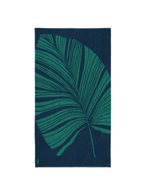 Ręcznik plażowy Foil, Niebieski, zielony, S 100 x D 180 cm