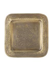 Deko-Tablett Collo aus Metall, L 29 x B 29 cm, Metall, beschichtet, Messingfarben, 29 x 29 cm
