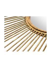 Runder Sonnenspiegel Ella in Gold, Rahmen: Metall, Goldfarben, Ø 98 cm