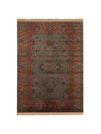 Teppich Bid mit Blumenmuster im Orient Style, Flor: 38%Rayon, 26%Baumwolle,, Grüntöne, Rottöne, Blau, Beige, B 170 x L 240 cm (Größe M)