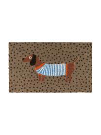 Fußmatte Sausage Dog, Oberseite: Kokosfaser, Unterseite: Kunststoff (PVC), Mehrfarbig, 45 x 75 cm