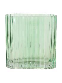 Set 2 vasi rettangolari in vetro Tulipa, Vetro, Verde, Set in varie misure
