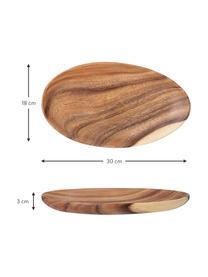Vassoio asimmetrico in legno di acacia Lodig, Legno di acacia, oliato, Marrone, Larg. 30 x Prof. 18 cm