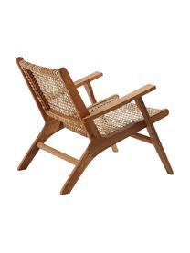 Fotel wypoczynkowy z rattanu Noon, Drewno akacjowe, beżowy, S 68 x G 80 cm
