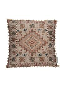 Poduszka z wypełnieniem Lunia, Tapicerka: 100% bawełna, Beżowy, brązowy, czarny, S 45 x D 45 cm