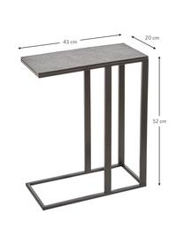 Table d'appoint design industriel Edge, Plateau : noir Structure : noir, mat