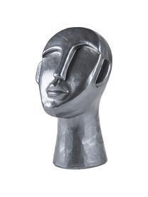 Deko-Objekt Head, Beton, Silberfarben, B 18 x T 17 cm