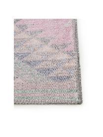 Tappeto etnico reversibile kilim Ana, 80% poliestere 20% cotone, Rosa, multicolore, Larg. 150 x Lung. 230 cm
