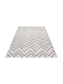In- & Outdoor-Teppich Waves mit Zick-Zack-Muster, 100% Polypropylen, Cremeweiß, Schwarz, B 160 x L 230 cm (Größe M)