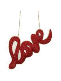 Baumanhänger Love B 16 cm, Rot, 16 x 8 cm